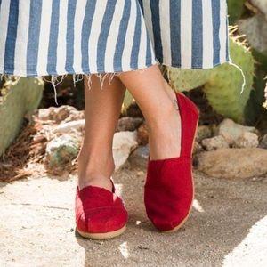 TOMS Red Canvas Women's Classics Shoe